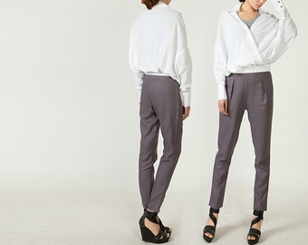 New design Wide Legs Long Pants in Gray(more colour and size choice)-NS30