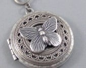 Flutter By Night, Butterfly,Necklace,Locket,Butterfly,Silver Locket, Butterfly Locket,Wings,Silver,Butterfly Necklace,Butterfly Jewelry,