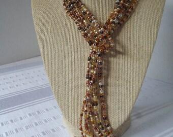 Copper Self Tie Necklace
