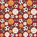 FLANNEL Sports Fabric in Red - Fat Quarter or 1/4 yard cut, your choice
