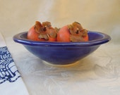 Cobalt blue bowl salad & serving