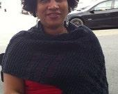 Knit Merino Wool Shawl, Extra Warm Wool Shawl, Merino Shawl, Knit Shawl, Woolen Shawl, Knit Wrap