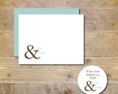 Ampersand,  Wedding, Wedding Thank You Cards, Ampersand,  Bridal Shower, Thank You Cards, Rustic Wedding, Wedding Thank You Notes