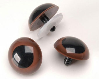 12mm Brown Animal Doll Toy Making Safety Eyes 6 Pair