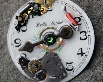 Steampunk Pendant- Clockface