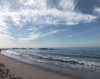 Fine Art photography, Venice Beach, California, Los Angeles, empty beach, blue sky, 8x12, waves