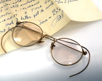 Vintage Spectacles Glasses Ful Vue 12K GF A