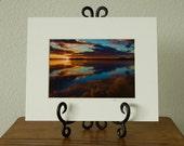 CLOSEOUT SALE - Variegated Reflections - Oregon Coast fine art matted photograph 8x10