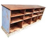 console credenza tv cabinet storage cabinet hand built and finished as an old reproduction store counter