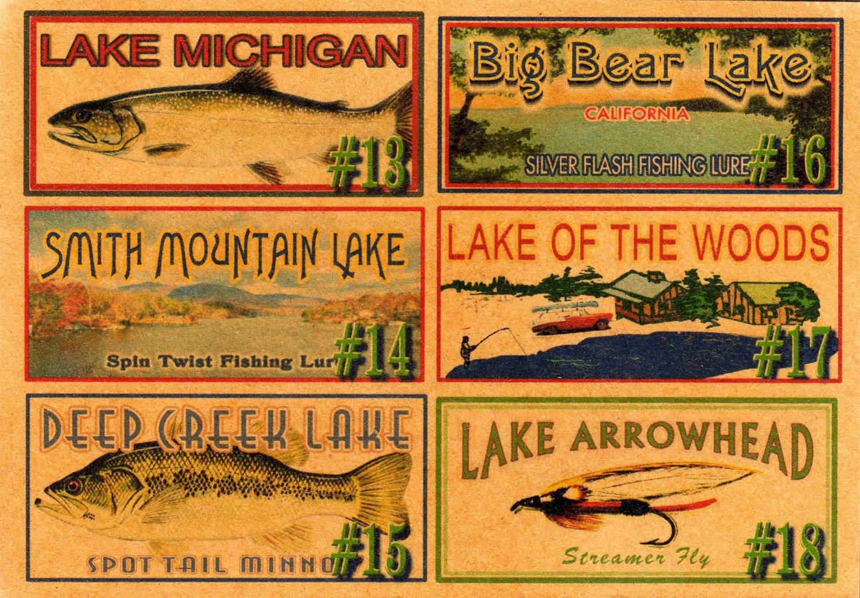 Fishing Lake House Decor Cabin Trout Michigan By 4YourLake