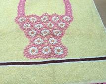 Haynes Crocheted Basket Yellow Towel