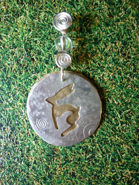Primative Hare Pendant Jewellery SquareHare UK  Free Postage Vegan silver pagan celtic wildlife handmade bridal druid shaman medieval gift