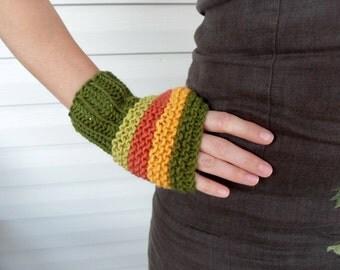 Fingerless Gloves, Women Gloves,Pumpkin,Harvest Festival, Arm Warmers,Winter Fashion, Mustard,Green,Orange, Pistachio