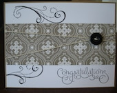 A Congratulation All Purpose fancy scroll Card