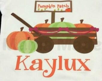 Pumpkin Patch Shirt  Wagon with Pumpkins halloween Pumpkin Shirt Girl's Wagon of Pumpkin Shirt Pumpkin Patch Shirt Pumpkin Shirt