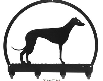 Whippet Black Metal Key Chain Holder Hanger