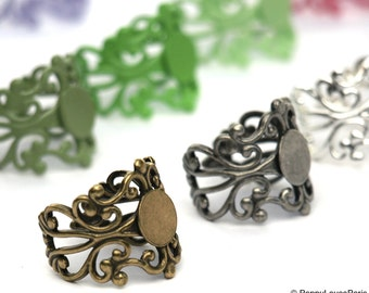 Set of 25 You Create..Multi...Assortment..Adjustable Filigree Ring Base with Pad....TOP QUALITY...20mm... Make the Mix Yourself