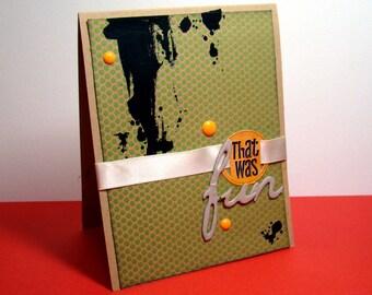 That was fun card - black splatter boy masculine fun card