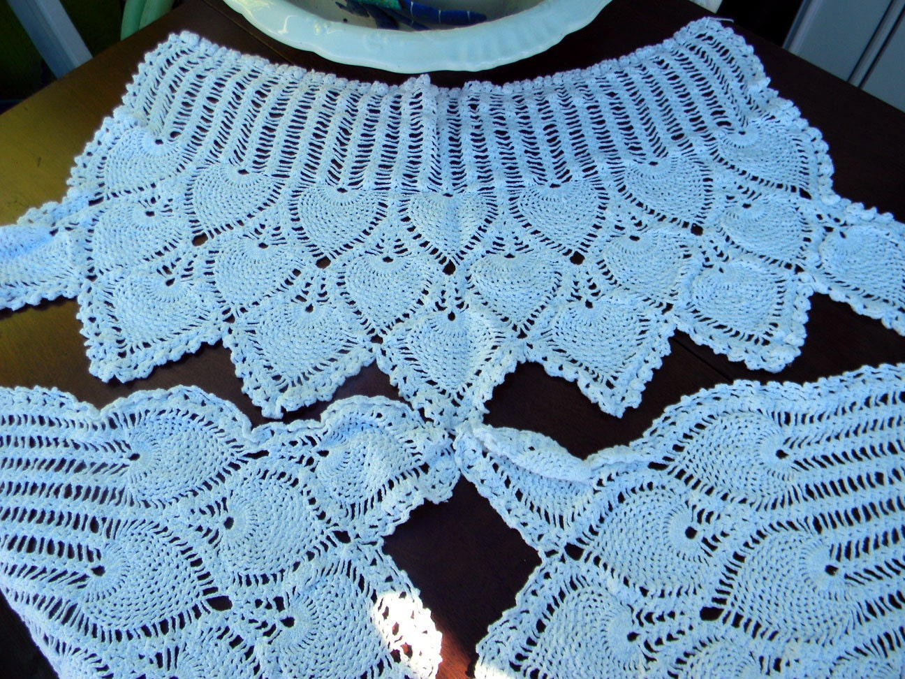 Pineapple Crochet Armchair Or Sofa Doilies In By
