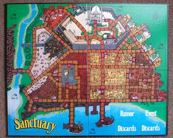 Vintage Sanctuary Game Board Mayfair Games 1988