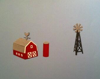 Barn - Silo - Windmill Die Cuts - Bazzill Cardstocks