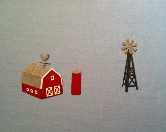 Barn - Silo - Windmill Die Cuts - Bazzill Cardstocks