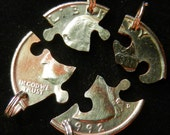 Puzzle Interlocking Four Piece Quarter Set