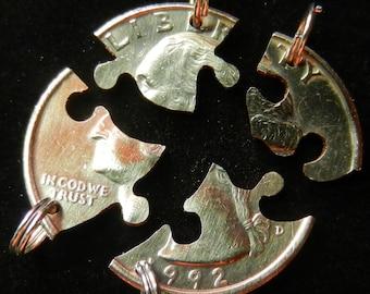 Puzzle Interlocking Four Piece Quarter Set