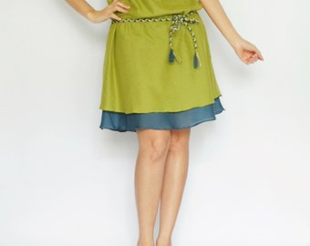 Think...Green Tone Cotton dress