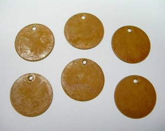 Gold Patina Drops Discs Earring Findings 6 - 15mm