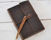 Leather Journal - Personalized Leather Journal by ClaireMagnolia