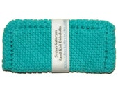Turquoise Hand Knit Dish Cloths