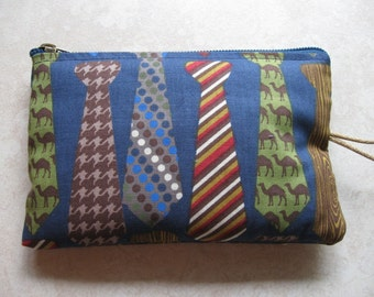 necktie padded handy zipper bag