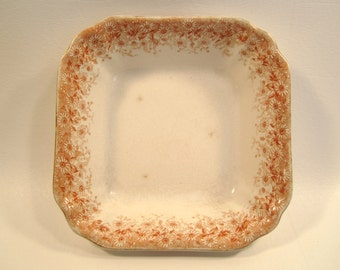 Antique T & R Boote Campania Square Vegetable Bowl  Waterloo Potteries England