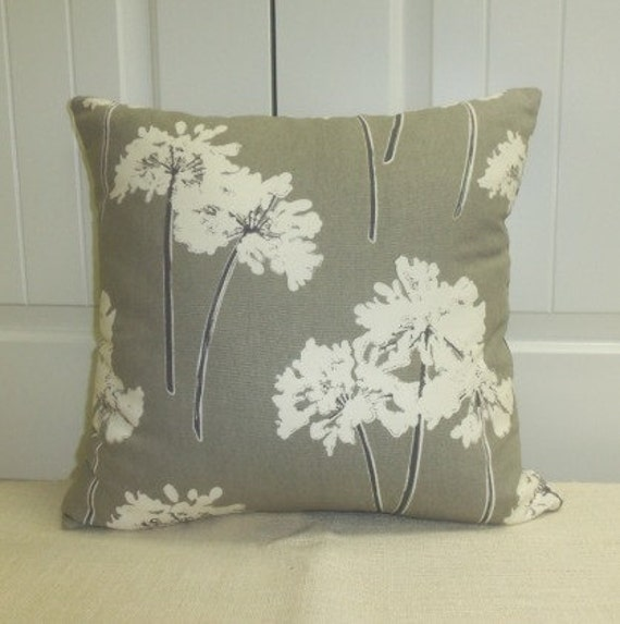 14x14 Dandelion Print Decorative Pillow Cover Throw Pillow