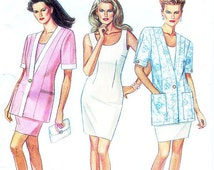 New Look Dress Pattern 6694 - Misses' Jacket and Dress in Two Variations - SZ 8/10/12/14/16/18