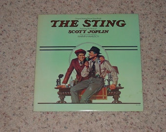 "Vintage Vinyl LP Record Album "" The Sting "" Movie Soundtrack Paul Newman Robert Redford"