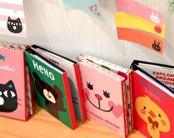 Post it folder message notes - cute animals