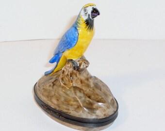 Vintage Limoges Parrot Trinket Box, Home