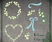 PNG Lily of the valley clip art, overlays, digital embellishments