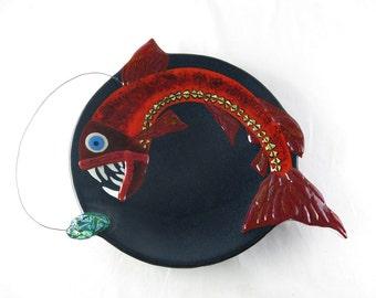 Viperfish Fused Glass Platter