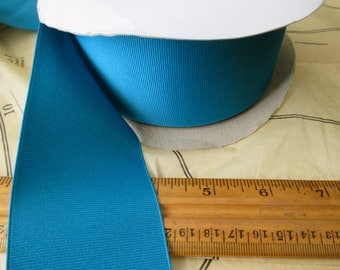 "roll of 2 1/4"" sapphire grosgrain ribbon - blue, polyester, made in USA"