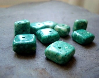 Teal Green Composite Stone Beads