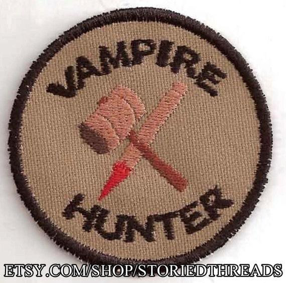 Vampire Hunter Geek Merit Badge Patch