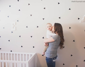 Vinyl Wall Sticker Decal Art - Mini Triangles