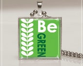 Necklace Pendant Key Ring Earth Day Be Green