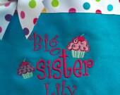 Aqua big sister bag- personalized at NO additional charge