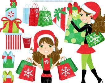 Image result for Christmas shopping clip art