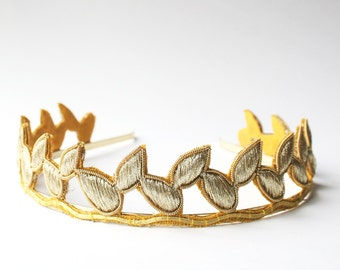 Bridal Crown, Bohemian Crown, Golden Tiara
