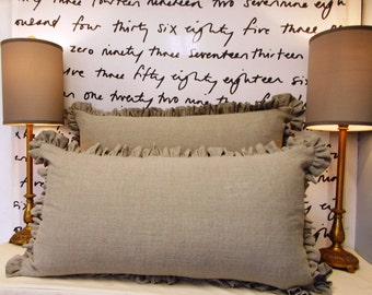 Washed Linen Ruffled Sham and Body pillow